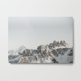 Jagged Peaks of The Dolomites | Northern Italy Mountain Range | fine art travel photography prints Metal Print