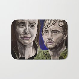 Abigail and Will, acrylic painting Bath Mat