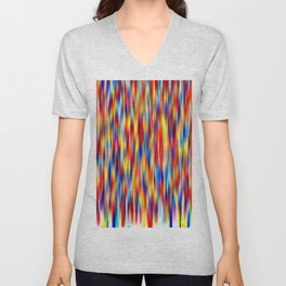 vertical primaries Unisex V-Neck