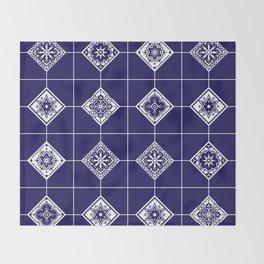 Talavera Mexican Tile – Porcelain Palette Throw Blanket