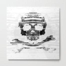 Bitter Bone Skull Metal Print