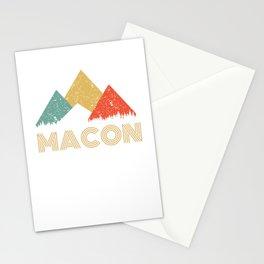 Retro City of Macon Mountain Shirt Stationery Cards