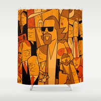hats Shower Curtains featuring The Big Lebowski by Ale Giorgini