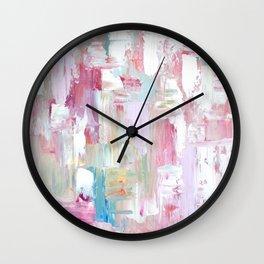 Pink Abstract Painting Wall Clock