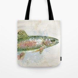 Splashing Rainbow Trout Tote Bag