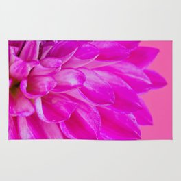 Macro image of the flower dahlia on pink background Rug