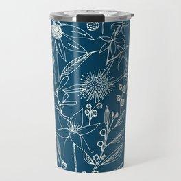 Indigo - Australian - floral - study Travel Mug