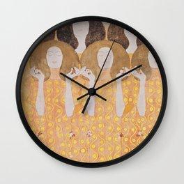 Gustav Klimt - Choir of Angels (Chor Der Paradiesengel) Wall Clock