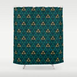 The Golden Power (Green) Shower Curtain