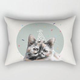 Calico Cat Birthday Rectangular Pillow