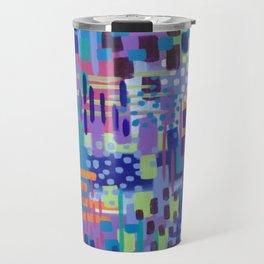 Crazy Rainbow Bright Abstract Art Travel Mug