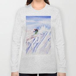 Powder Skiing Long Sleeve T-shirt
