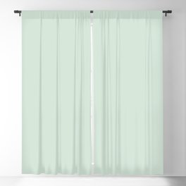Mint green greenery texture - simply a color Blackout Curtain