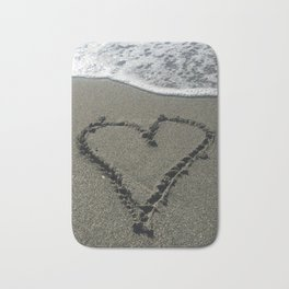 Sand Heart Bath Mat