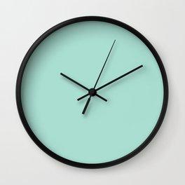 Mint Cream Solid Color Wall Clock