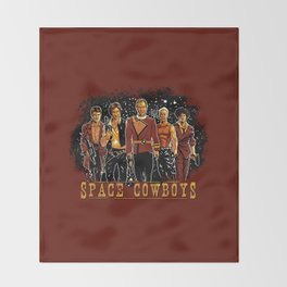 Space Cowboys Throw Blanket