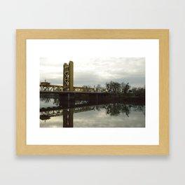 Tower Bridge - Sacramento, CA Framed Art Print