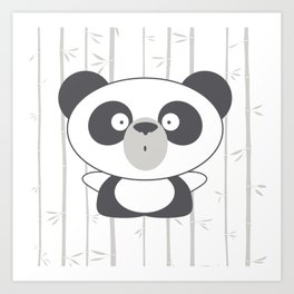 Emotional Bears: Surprised Panda Art Print