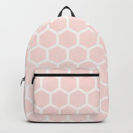 Blush Pink Coral Honeycomb Backpack