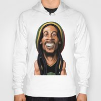 marley Hoodies featuring Celebrity Sunday - Robert Nesta Marley by rob art | illustration