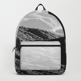 Smoky Mountain Black and White Forest Sunset - 125/365 Backpack