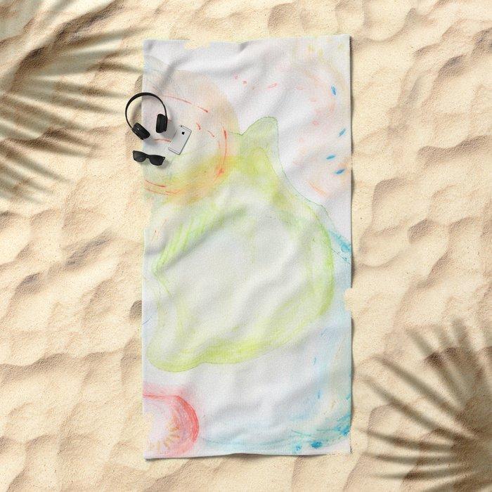 swirling bubbles Beach Towel