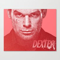 dexter Canvas Prints featuring DEXTER by Hands in the Sky