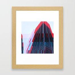 Manhattan Fracture Framed Art Print