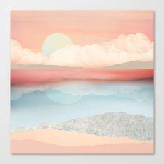 Mint Moon Beach Canvas Print