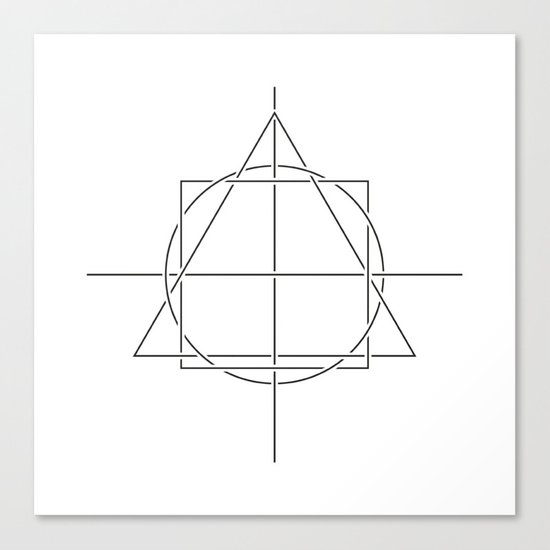 #398 All is one – Geometry Daily Canvas Print