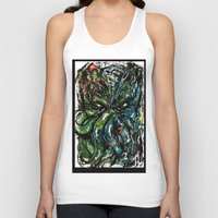 cthulu Tank Tops featuring Johnny Cthulhu by J.M. Hunter