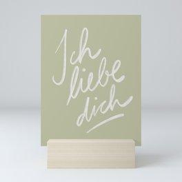 Ich liebe dich  Mini Art Print