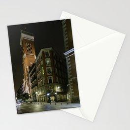 Madrid Hotel at Night Stationery Cards
