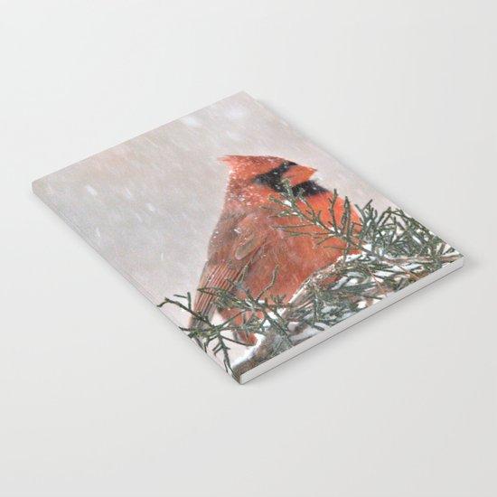 Snowfall Cardinal Notebook