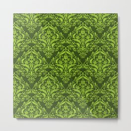 Halloween damask colors #3 Metal Print