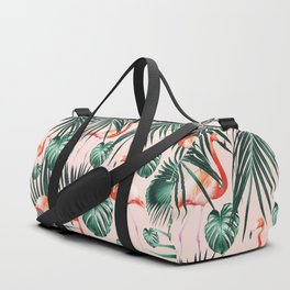 Tropical Flamingo Pattern #2 #tropical #decor #art #society6 Duffle Bag