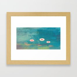 Daisy Canvas Framed Art Print