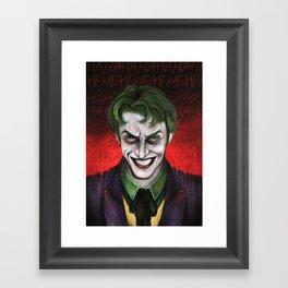 Joker HaHaHeHeHiHi Framed Art Print