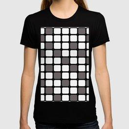 BLACK GREY AND WHITE RECTANGLE TILE  {BASIcs JHD} T-shirt