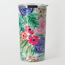 Watercolor Floral Bouquet No. 2 Travel Mug