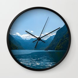 Koenigssee Lake with Alpes Wall Clock