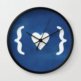 Paper Heart Wall Clock