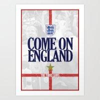 england Art Prints featuring England by liamhohoho