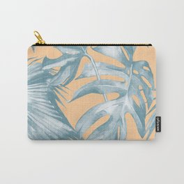 Island Vacation Hibiscus Palm Mango Ocean Blue Carry-All Pouch