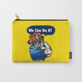 We Can Do It English Bulldog Carry-All Pouch