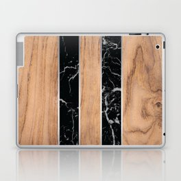 Wood Grain Stripes Black Granite #175 Laptop & iPad Skin