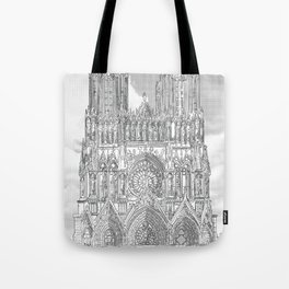 Reims - Cathédrale Notre-Dame Tote Bag