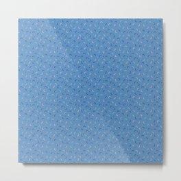 Memphis Style Blue Confetti Metal Print