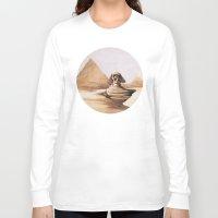 egypt Long Sleeve T-shirts featuring Dark egypt by Tony Vazquez