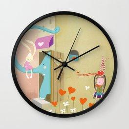 floating ears rabbit Wall Clock